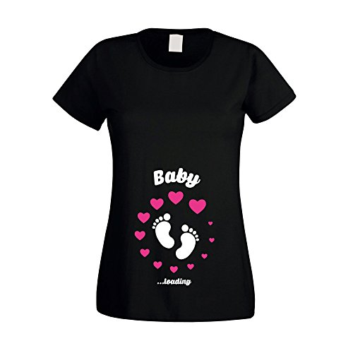 Shirt Department - Damen T-Shirt - Baby Loading schwarz-Weiss M