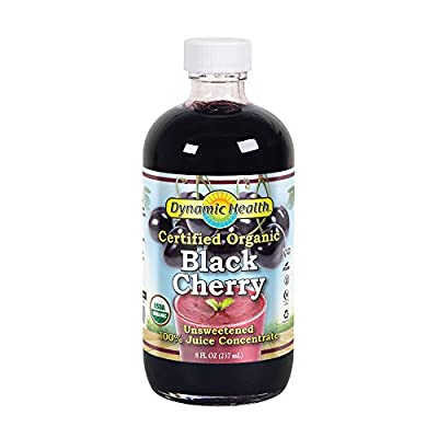 Dynamic Health 237ml 100 Percent Pure Black Cherry Juice Concentrate - Pack of 2 from Dynamic Health Laboratories Inc
