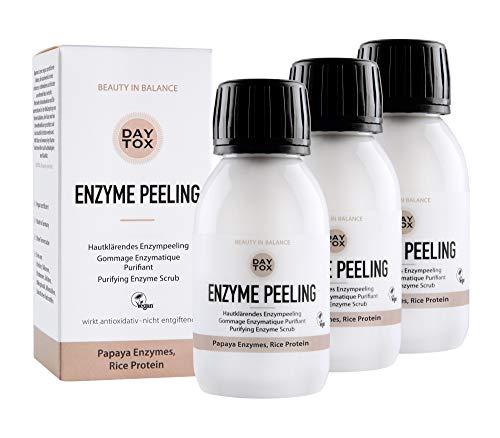 DAYTOX - Enzyme Peeling - Porenverfeinerndes Enzympeeling für das Gesicht, Exfoliator mit Ananas und Papaya - für empfindliche Haut geeignet - Vegan, Ohne Silikone,...