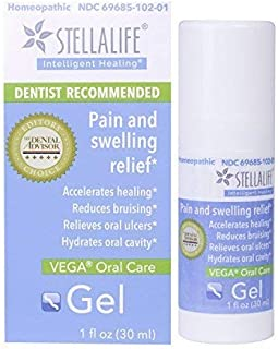 StellaLife VEGA Oral Gel: Dry Socket, Dry Mouth, Teeth Extraction, Gum Surgery, Canker Sore, Braces, Denture, Ulcer, Mucositis, Dental Implant, Advanced Natural Dental Pain Relief, Heal Faster, Mint
