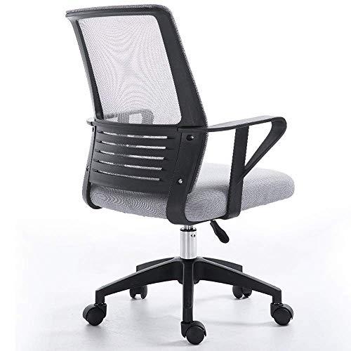 Wohnaccessoires Mode Home Office Student Grid Back Schwammkissen Computer Drehstuhl Erhältlich in 5 Farben Optionaler 360-Grad-Drehstuhl (Farbe: Schwarz) 3