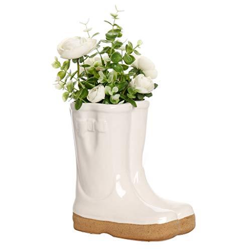 Dibor Herb Planter Wellington Boot Large White Flower Pot