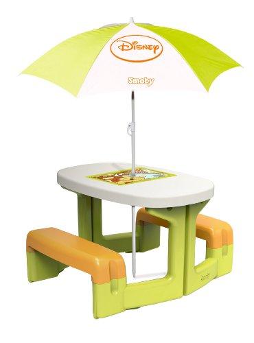 Smoby 310272 - Winnie the Pooh Picknick-Tisch mit Sonnenschirm, Spielzeug