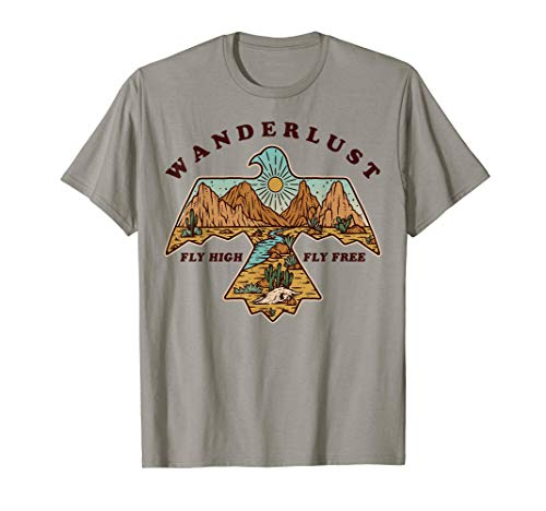 Vintage Retro Wanderlust Fly High Fly Free Desert Boho Gift T-Shirt