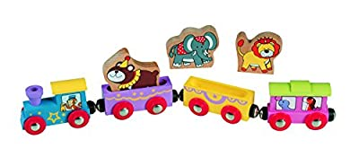 Wooden Animal Train Circus - Compatible with All Major Name Brand Wooden Train Sets from maxim enterprise, inc.