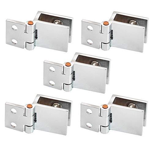 yyuezhi Bisagra de Puerta Vidrio para Vitrinas Accesorios de bisagra de abrazadera de puerta de vidrio Bisagra de la puerta resistente al desgaste Accesorios de alta calidad para puertas de vi