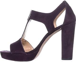 Womens Berkley Leather Open Toe Casual Platform, Damson, Size 9.5