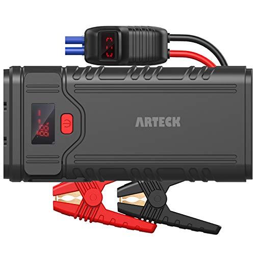 Arteck 2000A ジャンプスターター エンジンスターター ポータブル充電器 スマホQC3.0急速充電器 QDSP 12V車用 バッテリ ブースターパック 最大でガソリン9.0L ディーゼル8.0L 24ヶ月保証付【日本語取扱説明書付き】