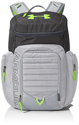 Under Armour Storm Undeniable II Backpack, Stealth Gray /Hyper Green, One Size Fits All