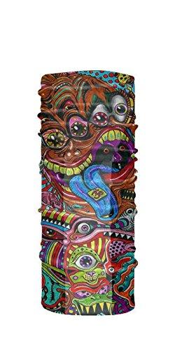 DMT Dark Drug Psychedelic Marijuana Ganja LSD Acid Trippy hipie Psychedelic Full 3D Motorcycle tubular Bandana - Tube Balaclava Bandana