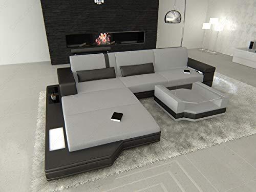 Sofa Dreams Stoffen Hoekbank Messana in de L-SHAPED met Verlichting
