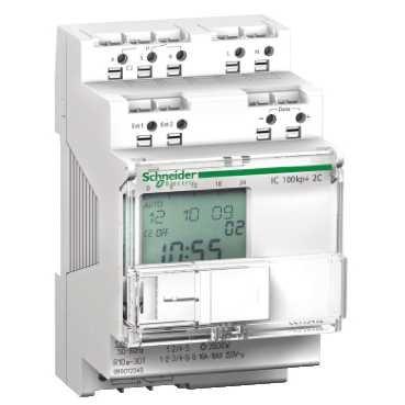 Schneider CCT15493 schemerschakelaar, IC100kp+, 2-kanalen, programmeerbaar, 1-99000 Lux