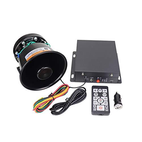 YHAAVALE9200C 증폭기 경찰이&블랙 라운드 벨 콘 스피커 DC12V100W 손 멀티-색조용 무선 원격 제어 MIC 를 가진 비상사태 전자 PA 스피커 시스템을 위한 자동차 | 자동차
