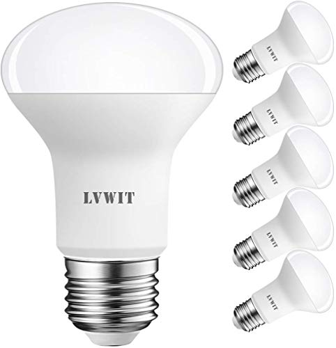 LVWIT - Lampadina a riflettore LED E27 R63, opaca, Plastica, Warmweiß 8.5W - 6er Pack, E27