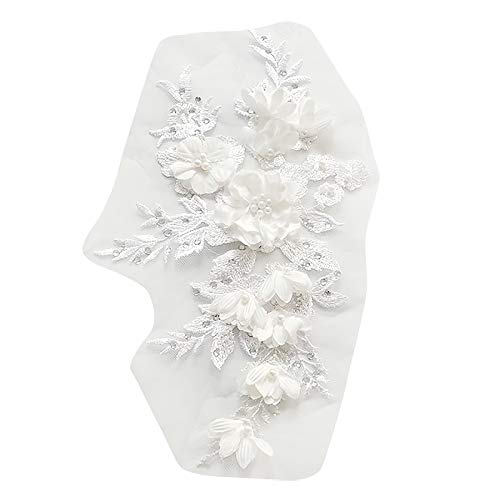 WOVELOT Flores Cuentas Novia Encaje Perforación Caliente