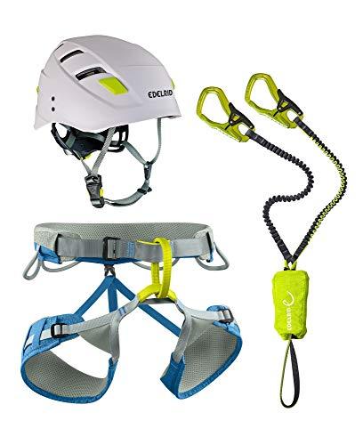 EDELRID Klettersteigset Cable Kit mit Helm Zodiac und Gurt Jay KSS Kit, Größe:M
