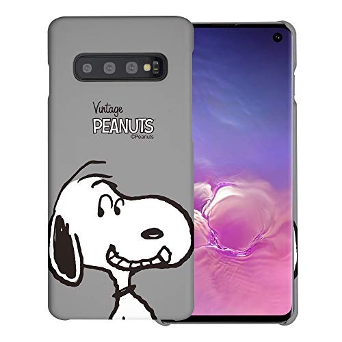 """Galaxy S10 ケース と互換性があります Peanuts Snoopy ピーナッツ スヌーピー ハード ケース/艶消しの硬い スリム スマホ カバー 【 ギャラクシー S10 ケース (6.1"""") 】 (面 スヌーピー) [並行輸入品]"""