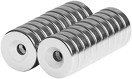 Countersunk Round Disc Magnets 12x3mm Magnetic Ring 1 2x1 8 Fastener Holder Organizer Tool Universal product image