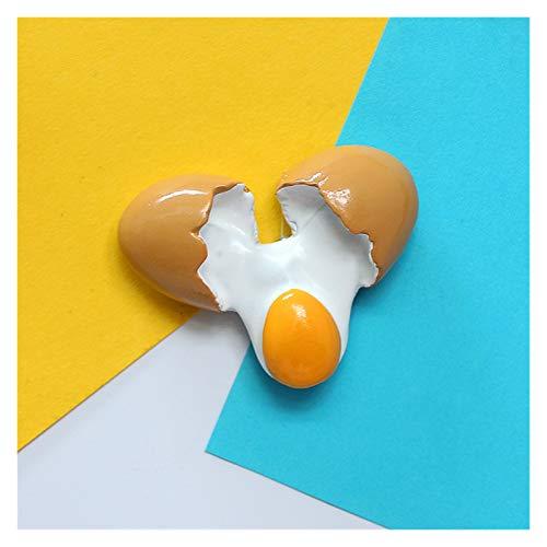 DONGMAISM Creative Simulation Food 3D Fridge Imanes Cono Dulce Cono Asado Pierna de Pierna Hamburguesa Magnética Decoración magnética Refrigerador Pasta (Color : Egg 2)