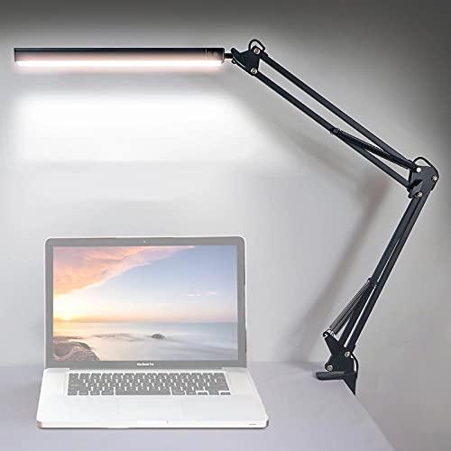 Lámpara de escritorio, luz LED de escritorio, lámpara de escritorio con chasis, lámpara de escritorio de color ajustable para el hogar, dormitorio, mesita de noche