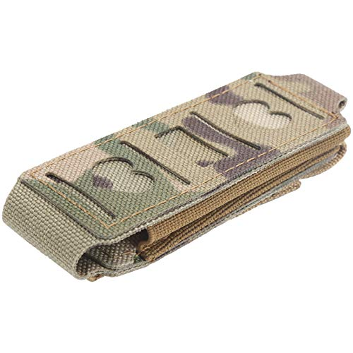 Dilwe Single Magazine Pouch, Nylon Quick Installation Attachment Pouch Flashlight Waist Belt Pouch for Outdoor Camping Hunting(CP camouflage)