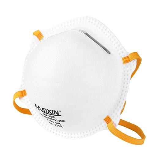 Meixin Atemschutzmaske FFP2 im 5er Set mit CE-Zertifikat – Hochwertige Atemmaske – Perfekt anpassbare Staubmaske – Feinstaubmaske, Staubschutzmaske gegen Feinstaub