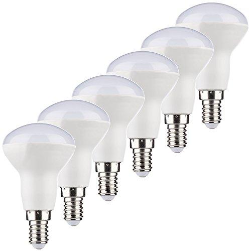 MÜLLER-LICHT 400249_Set A+, 6er-Set HD95-LED Reflektor ersetzt 37 W, Plastik, 5.5 W, E14, weiß, 5 x 5 x 8.6 cm