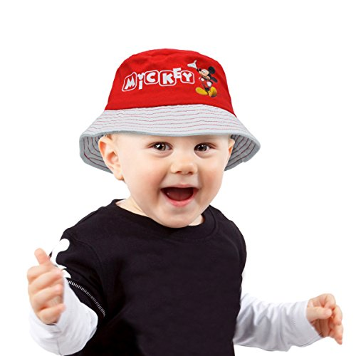305875 Cappello Mickey Mouse Modello Pescatore graficamente Decorato. MWS (52 cm, Rosso)