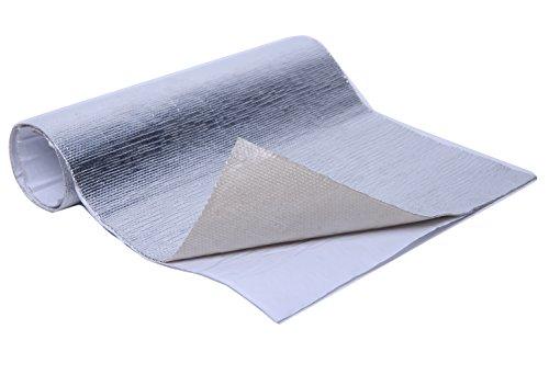WISAUTO Aluminized Heat Shield Thermal Barrier Adhesive Backed Heat Blanket (12'' X 24'')