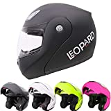 Best Motorcycle Helmets - Leopard LEO-717 Flip up Front Motorcycle Motorbike Helmet Review