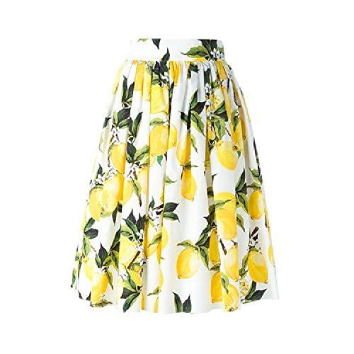 ZLYCP Falda de mujer estampada europea y americana de moda falda para mujer Color de la foto 44