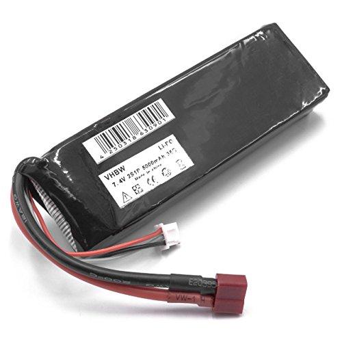 vhbw RC modelaje - Batería Li-Polymer 5000mAh 7.4V para Diversos Coches de Carreras, helicóptero, avión y Barcos como Amewi, Carson, Jamara, HPI, Kyosho.