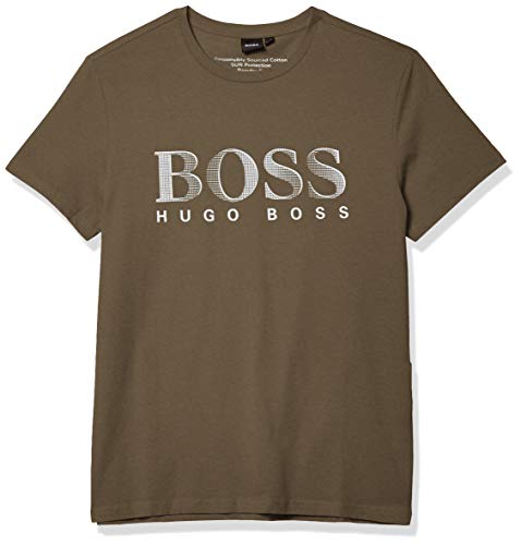 Hugo Boss BOSS Men's Rashguard Shirt, Olive Green, S
