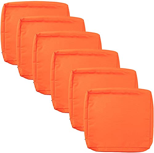 """idee-home Patio Chair Cushion Covers 6 Pack, Outdoor Seat Cushion Cover 20""""X18""""X4"""", Replacement Covers Only"""