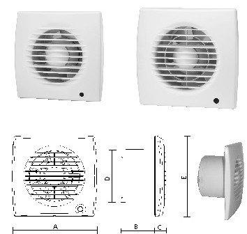 Ventilator Slimline 100 Upmann