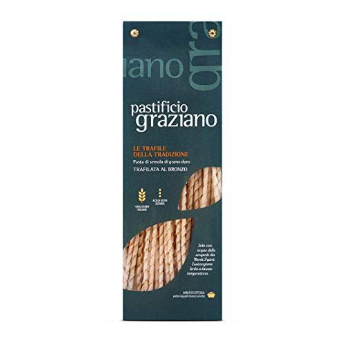Pastificio Graziano Pasta Fusilli Lunghi – Trafila al bronzo – 100% Grano Italiano - 500gr.