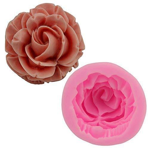 BANGBANGSHOP 3D Zoete Roos Bloem Siliconen Fondant Mold Baking Gum Plakken Suiker Craft Taart Decoratie Gereedschap Mallen Cake pops Moulds