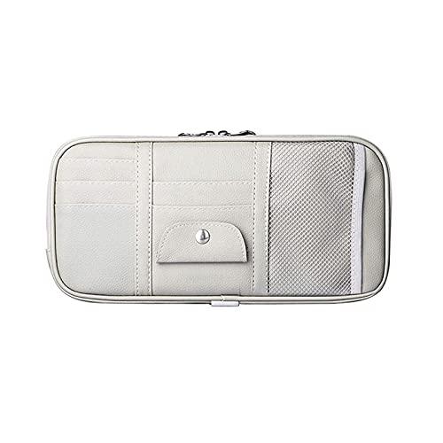 Marjory Car Sun - Organizador de visera, accesorio interior para coche, organizador para camión, con varios bolsillos