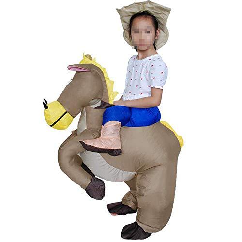 OUJIE Vêtements Gonflables De Poney De Cavalier De Cow-Boy,Fête De Carnaval d'halloween,Costumes Gonflés,Cadeaux De Vacances,Activités Parent-Enfant;