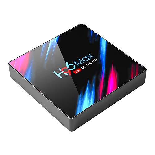 Android 9.0 TV Box Android TV Box 9.0 4GB RAM 32GB ROM RK3318 Quad Core Bluetooth 4.2 WiFi 2.4G & 5G Ethernet 1USB 3.0 & 1USB 2.0 Set Top Box Support 4K Ultra HD Internet Video Player