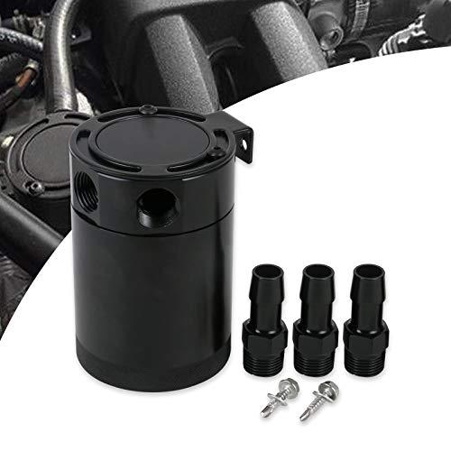 GOGOLO Auto alluminio cattura olio serbatoio serbatoio serbatoio 400 ml costruito in filtro 3 porte olio Can con sfiato per auto da corsa universale SUV Van