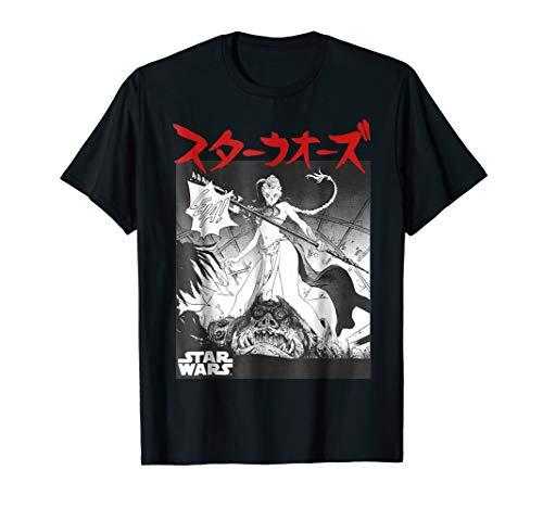 Star Wars Princess Leia Kanji Black Comic Graphic T-Shirt Z1