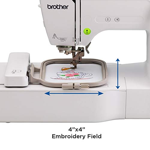 Brother PE535 Embroidery Machine, 80 Built-in Designs, 4' x 4' Hoop Area, Large 3.2'  LCD...