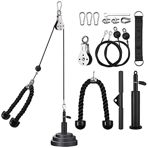 Kit de Cables de Poleas Sistema de Polea Gimnacio para Trabajar Bíceps,...
