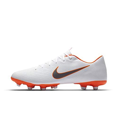 Nike Mercurial Vapor 12 Academy MG, Scarpe da Calcio Uomo, Bianco (White/Chrome-Total O 107), 40 EU