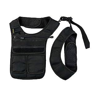 QEES Underarm Concealed Holster Wallet for Men, Anti-Theft Left Shoulder Bag, Hidden Shoulder Wallet, Multi-Purpose Portable Security Bag for Travel/Outdoors GJB436