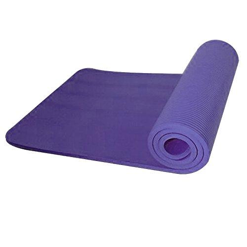 Dire-wolves - Tappetino per yoga, 10 mm, super morbido, extra spesso, antiscivolo, per esercizi, fitness, palestra, pilates, Donna, Viola, 183x61x1cm