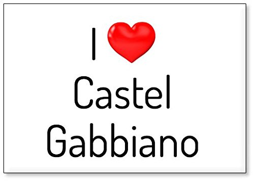 I Love Castel Gabbiano, fridge magnet (design 2)