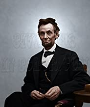 President Abraham Lincoln February 5th, 1865 Color Photo
