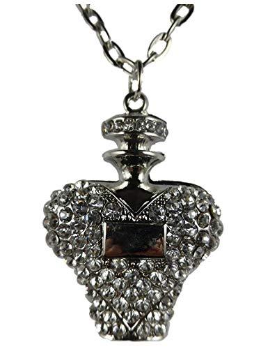 Halskette Kette Straß Flacon Parfum Flasche Drogerie Parfümerie Kosmetik 1383